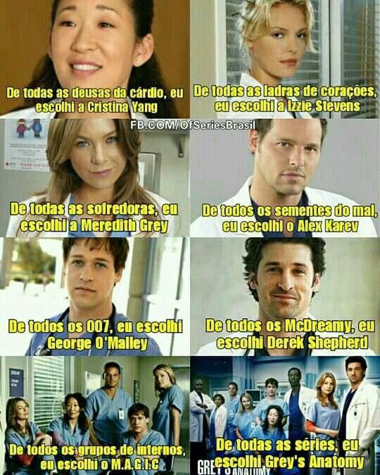 Series Series E Filmes Cristina Yang Grey S Anatomy