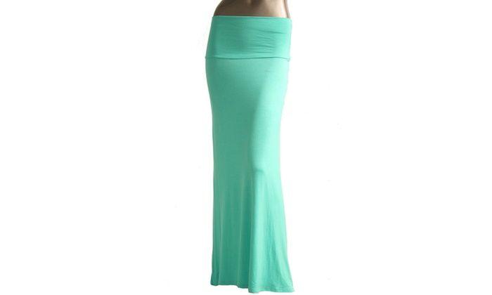 Azules Womens Maxi Skirt 9001RS-7