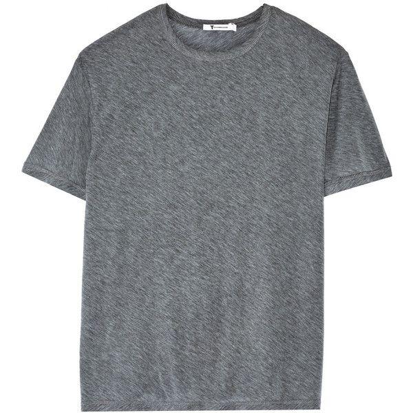 T By Alexander Wang Cotton Blend Jersey T Shirt Loose Shirts Shirts Grey Shirt