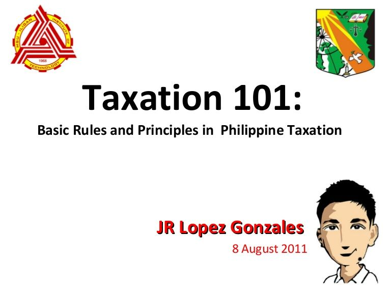 This Was The Informative Speech On The Basic Taxation Principles