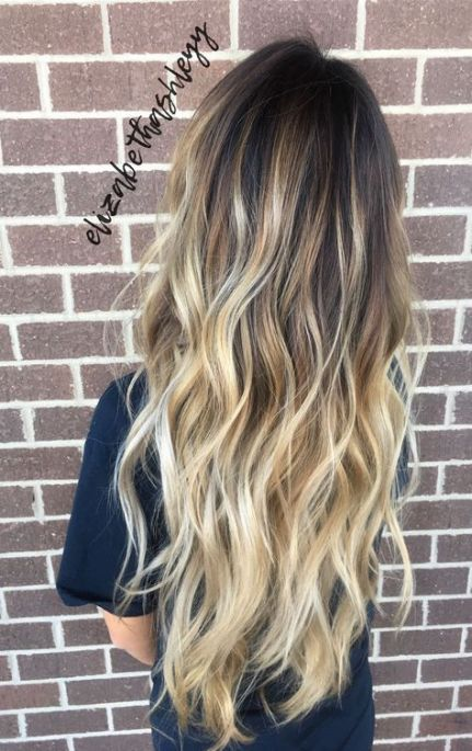 Hair Long Balayage Blonde Dark Roots 55 Ideas Hair Styles Long Hair Styles Balayage Hair
