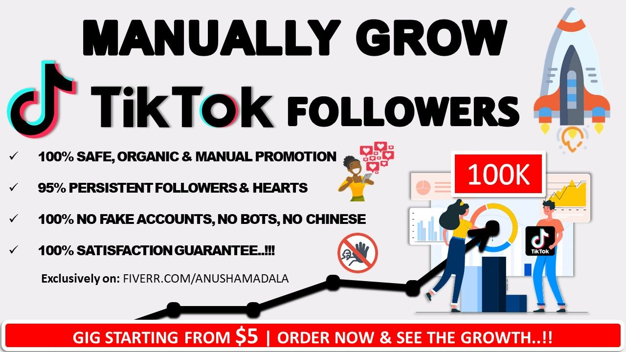 Anushamadala I Will Grow Your Tiktok Followers And Likes For 5 On Fiverr Com How To Get Followers How To Get Famous Get More Followers