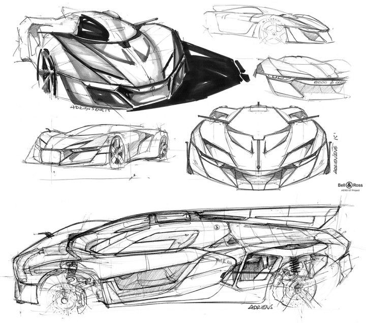Bell and Ross AeroGT Concept - Design Sketches by Adrien Sene