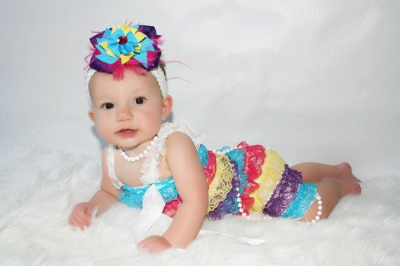 Bright Summer Petti Romper by MissKhloesKloset on Etsy, $13.49