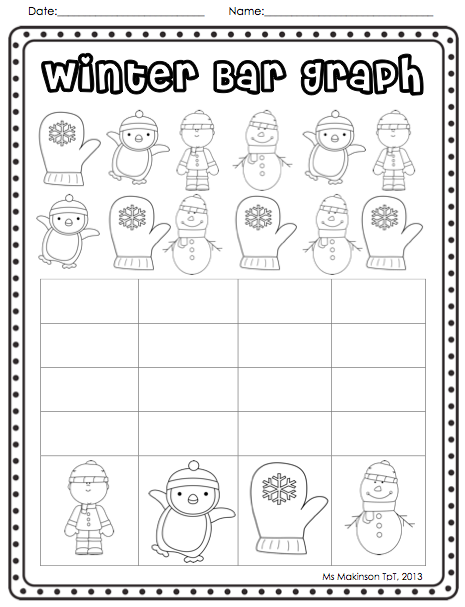 Christmas and Winter - Literacy and Math Activities | Bar graphs ...