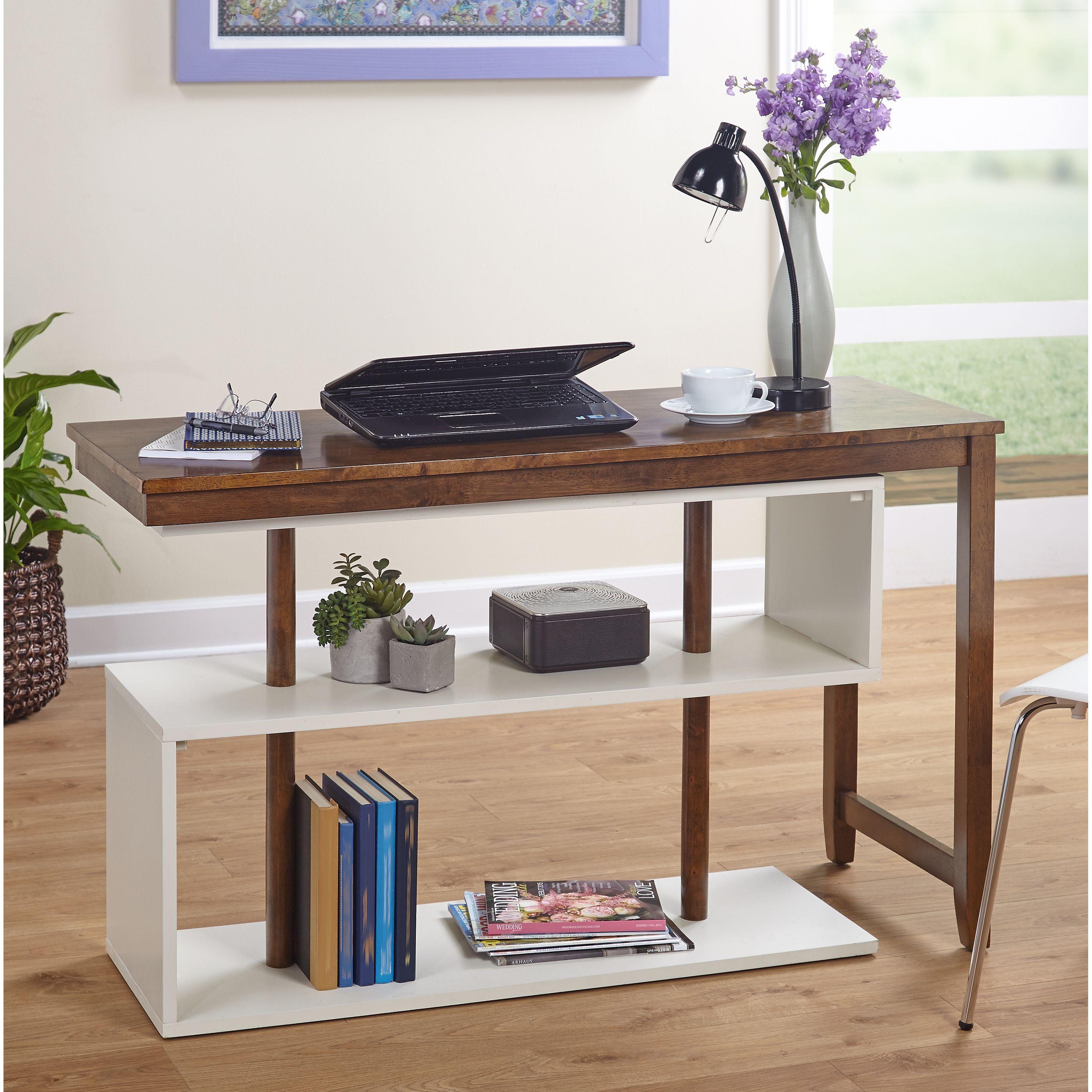 Simple living webster whitegrey wood swing desk webster swing desk