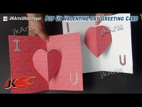 Easy Pop Up Heart Card Making Tutorial To Make With Kids Not Just For Valentine 39 S Youtube Easy Valentine Cards Pop Up Greeting Cards Valentines Cards