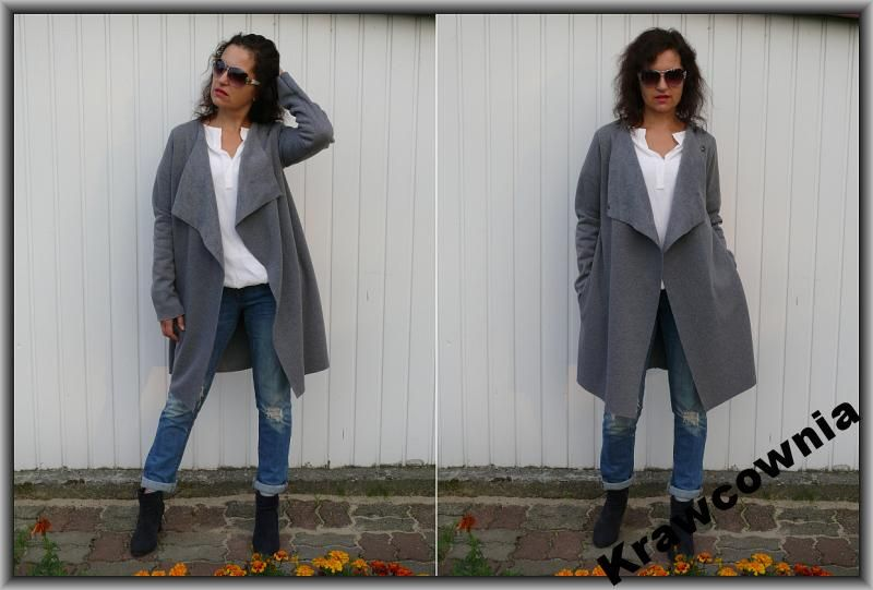 Szary Plaszcz Zara Z Kapturem Grey Coat Hood Zara Zakupy Kobieta