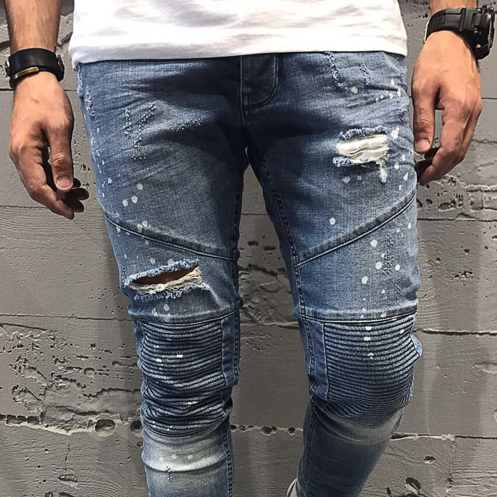 mens black fitted jeans