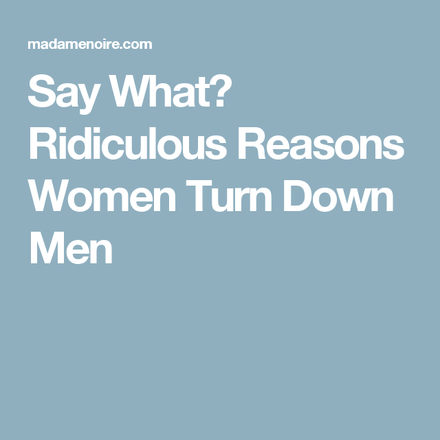 ways to turn down a guy