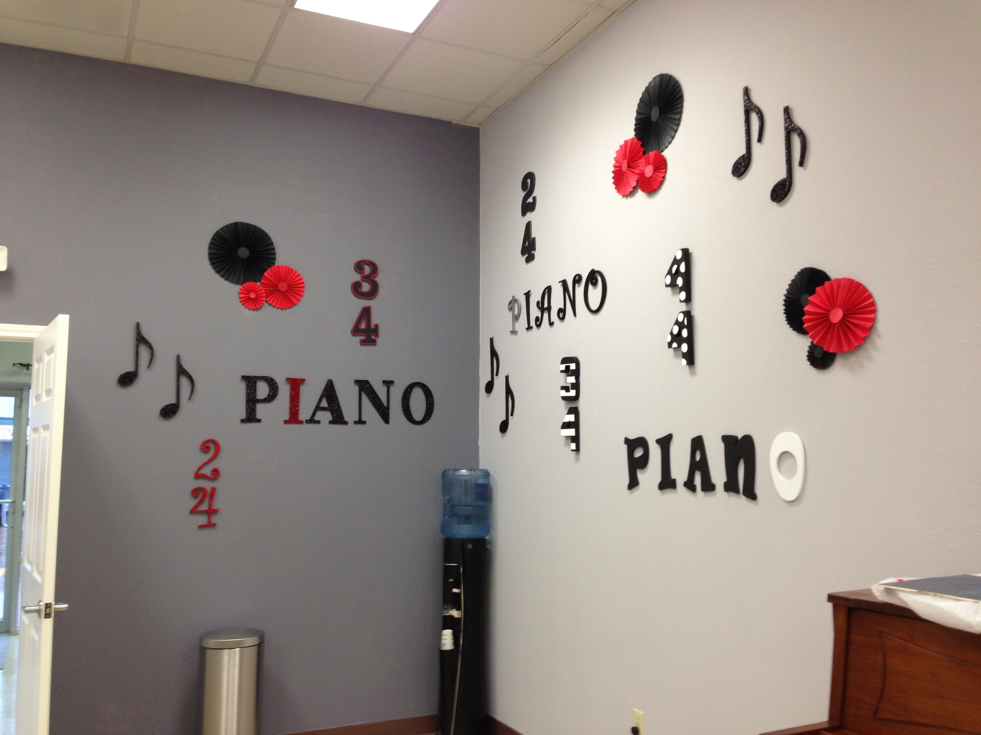 Diy Music Decor Everything Purchased From Hobby Lobby And Painted Like Us On Facebook For More Ideas