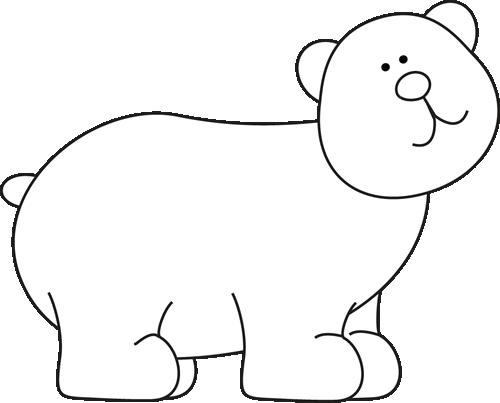 Black And White Bear Clip Art Black And White Bear Image Bear Images White Bear Clip Art