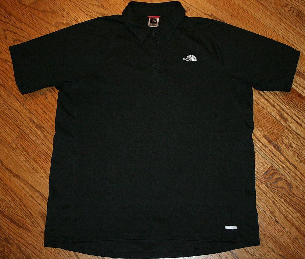 a110a9720 THE NORTH FACE Vapor Wick Black Polo golf Shirt Men's XL X-Large ...