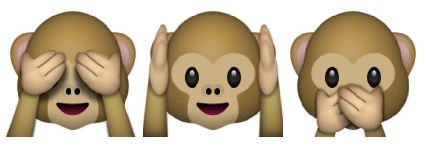 The Case Of The 3 Monkeys Is Tearing Twitter In Two The Two Way Monkey Emoji Monkey Tattoos Monkey Stickers