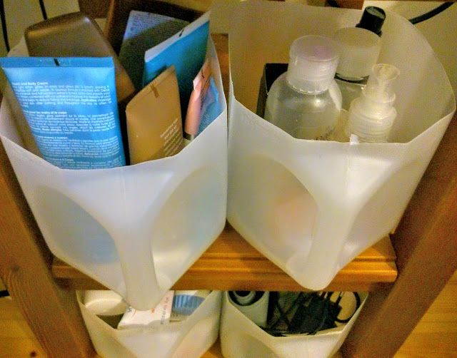 M'made Diy : Storage Containers from plastic canisters.