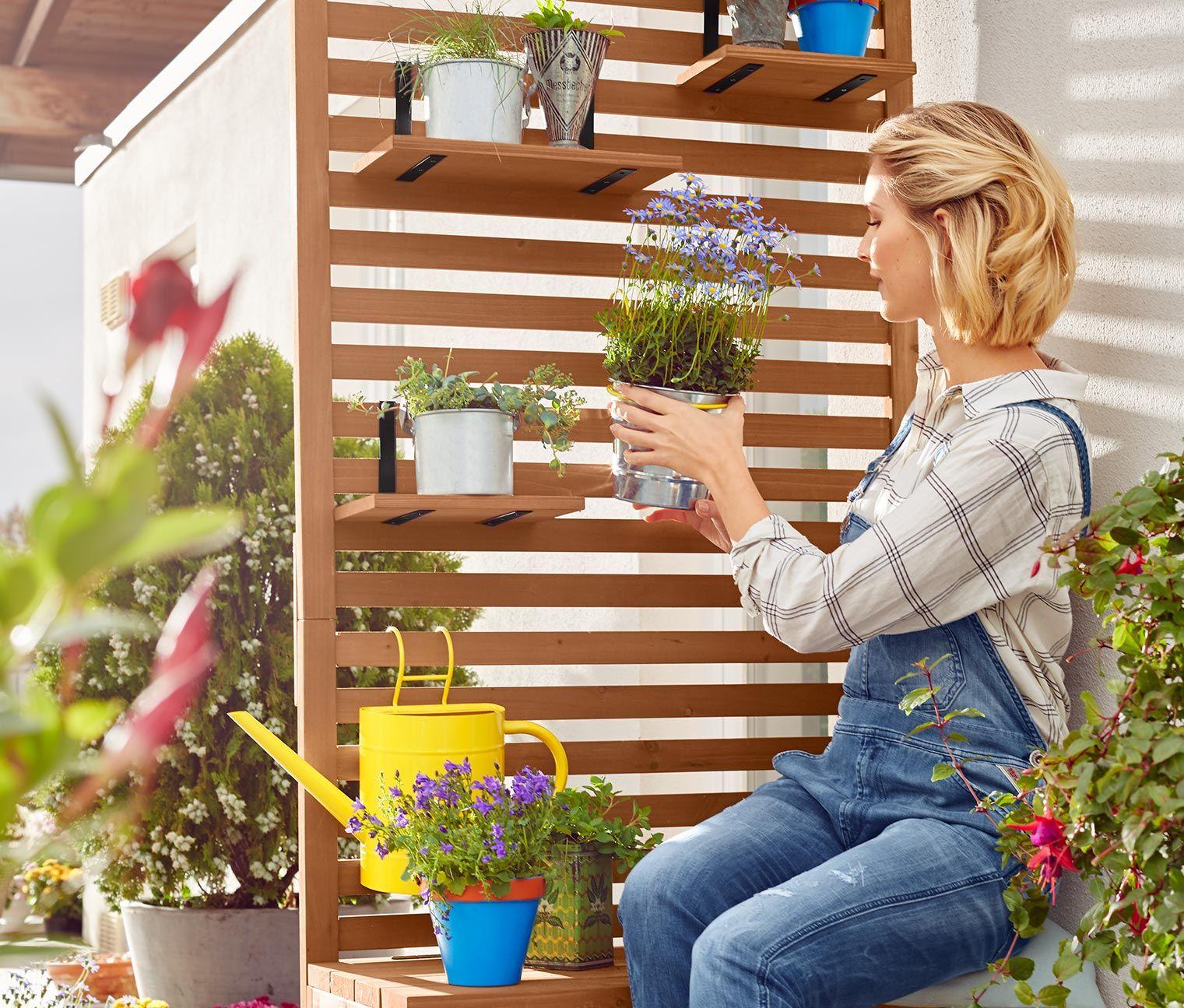 BalkonSichtschutzbank Indoorpflanzen dekor, Ikea