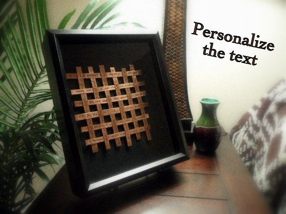 Woven Copper Art Mounted In Shadow Box - Seven Year Anniversary Gift ...