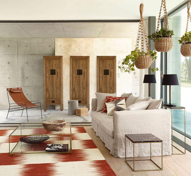 salon nature canape en lin fauteuil en cuir plantes nouvelle collection am pm_5653335jpg 640588