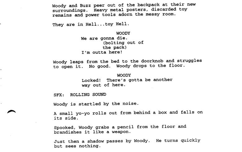 4 Examples of Good Visual Writing in a Movie Script in