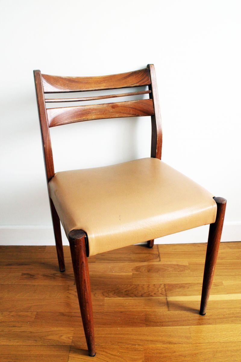 chaise scandinave en teck vintage