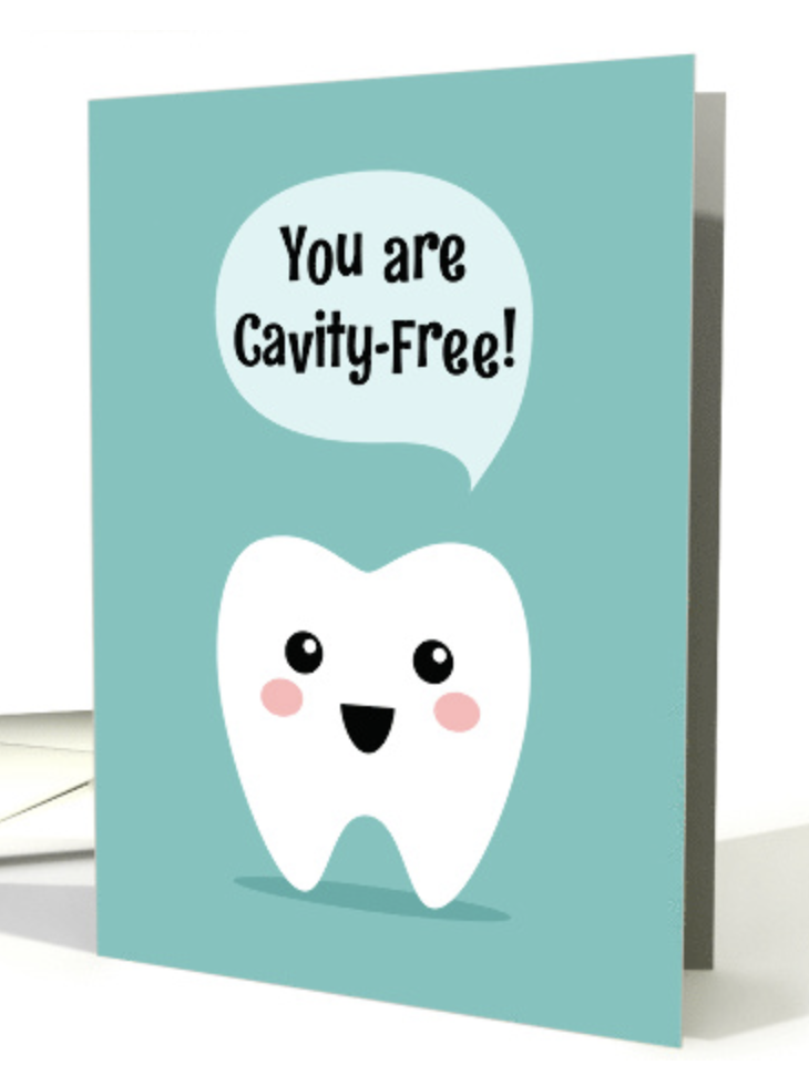 You Are Cavity Free Dentist Recognition For Kids Card Thank You Cards From Kids Birthday Card Drawing Congratulations Card