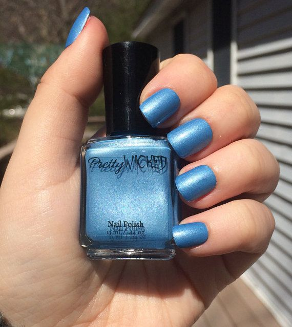 Sky Blue Nail Polish By Prettywickedpolish