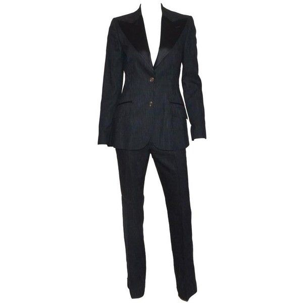 c977546089e2 Preowned Dolce   Gabbana Women s Tuxedo Suit ( 800) ❤ liked on Polyvore  featuring suits and multiple