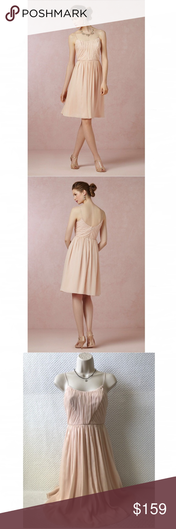 84f3c82ea0c0e BHLDN Hitherto Giselle Blush Pink Dress Size 2 You are purchasing an  Anthropologie Brand Hitherto BHLDN