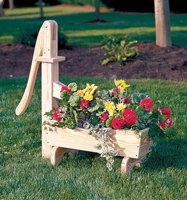 Large 1 Metre Wooden Garden Planter Box Trough Herb: Wooden Water Trough Planter