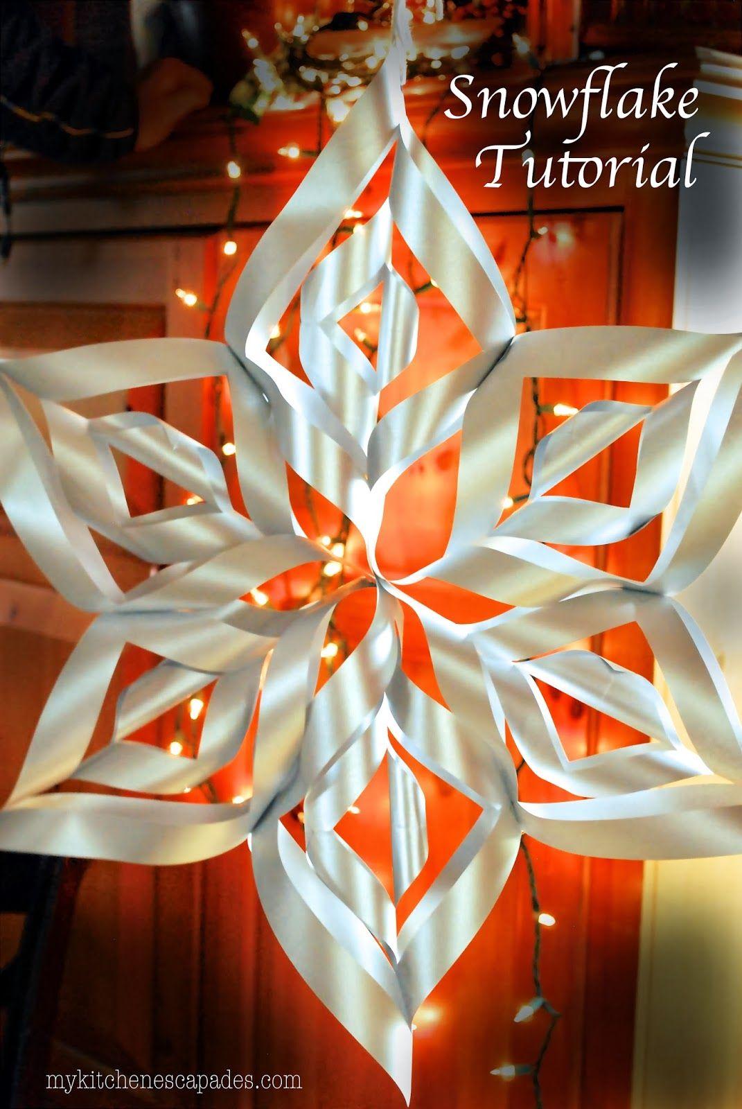 Large Paper Snowflake Tutorial Paper snowflakes