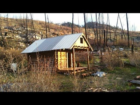 Really cool diy video how to build an ultimate survival for Small survival cabin