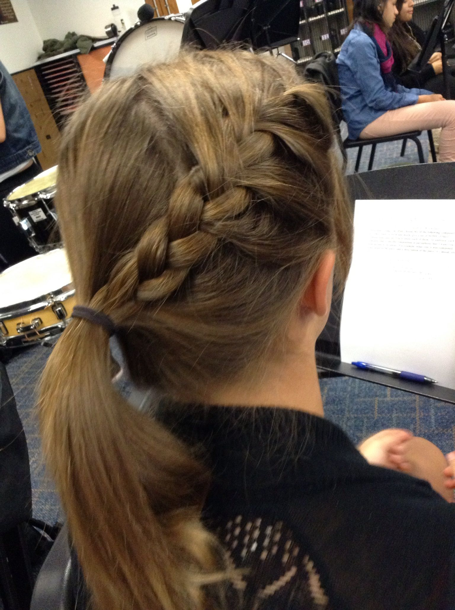 Side French Braid Into Ponytail On Brooke French Braid Ponytail Hair Styles Side French Braids