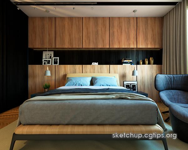 2310 Interior Bedroom Scenes Sketchup Model Free Download ...