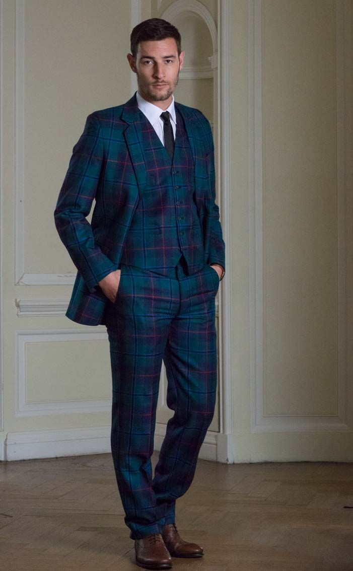Luxury Tartan Three Piece Suit, Made-to-Measure by Scotweb Tartan ...