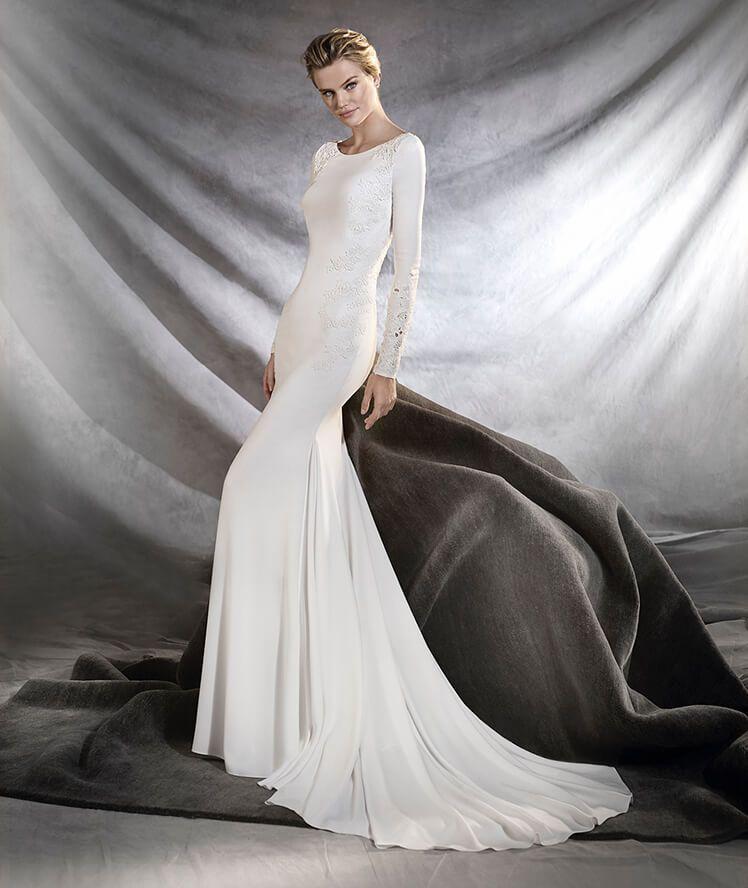 969b22255 Los vestidos de novia con manga larga Primavera Verano 2019 más ...