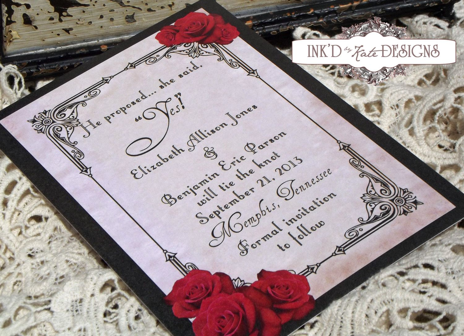 Black And Red Wedding Invitations Simple Ideas 21 On Invitation ...