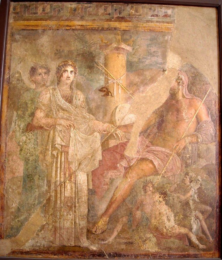 Superior Fresco From The House Of The Tragic Poet. Hera, Nelle Solenni Vesti Di Sposa
