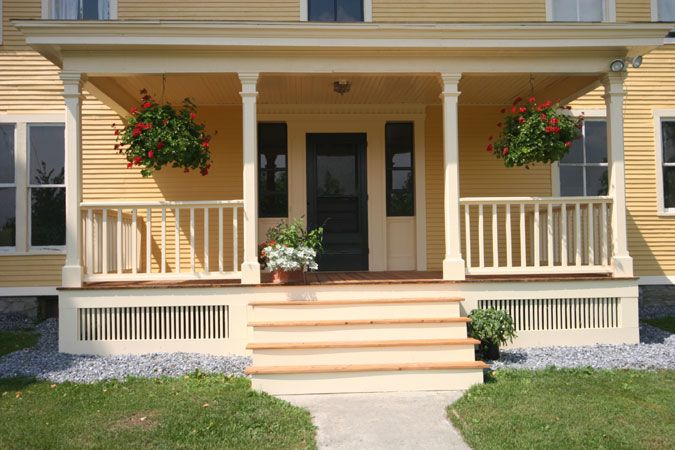 Find This Pin And More On Porch By Stacybush11. Outdoor : Elegant Front  Porch Designs ...