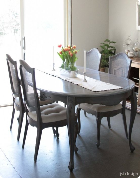 Painted Furniture How To Make Over A Dining Room Table With Gray Wash Finish