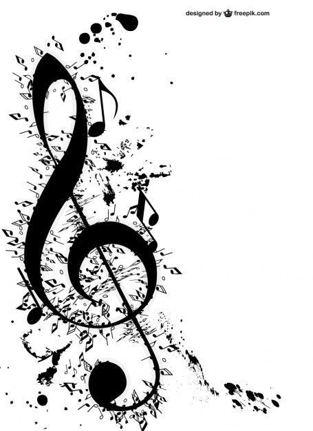 Clave De Sol Y Notas Musicales Vector Gratis Music Pinterest