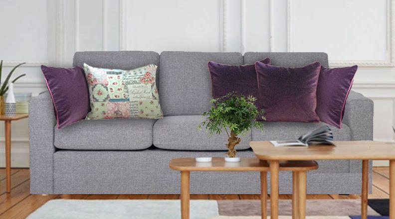Coussin velours violet quels coussins pour un canap gris anthracite canap gris coussin - Coussins pour canapes ...