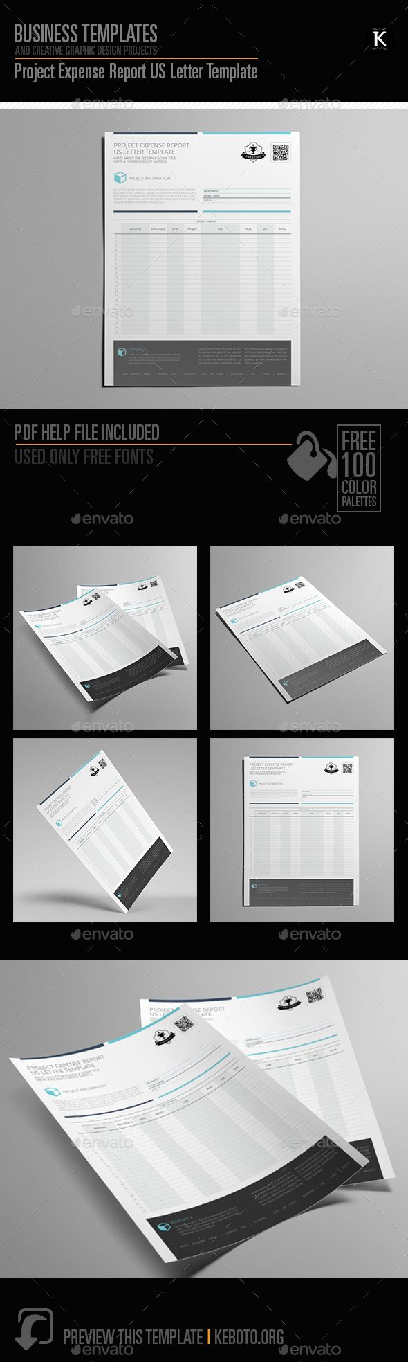 Project Expense Report US Letter Template