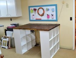 Diy Bookshelf Craft Table The Owner Builder Network Craft Table Diy Bookshelves Diy Craft Table