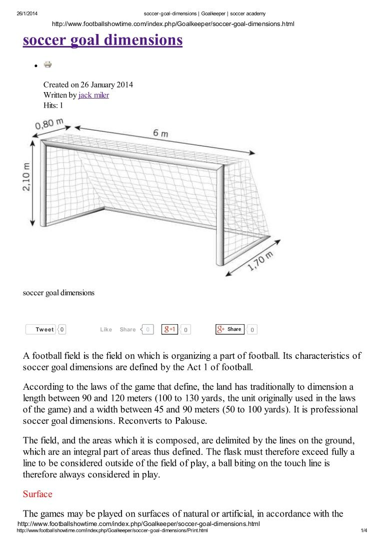 Image Result For Dimensions Of Youth Soccer Goal Post Metric Soccer Goal Post Soccer Goal Soccer Academy