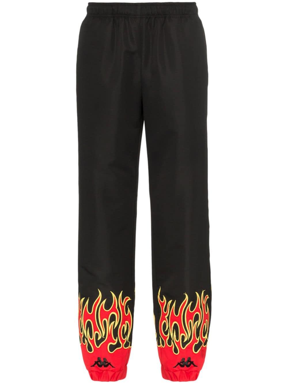 Charm's Fire Print Sweatpants | Pants, Sweatpants, Black pants