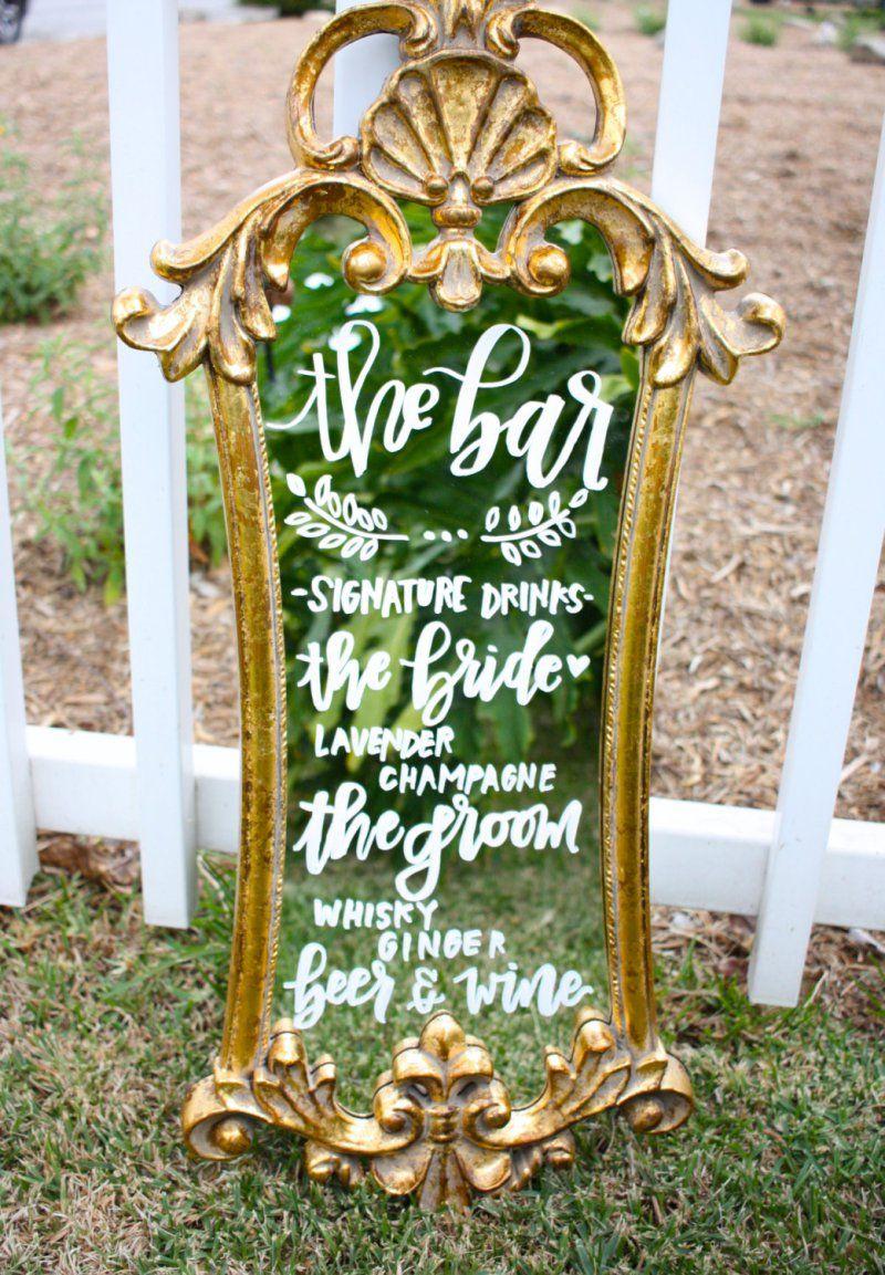 Wedding Mirror Signs 5 Creative Ways To Use Them Mirror Wedding Signs Wedding Mirror Wedding Signs
