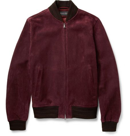 cee3c425f Gucci Suede Bomber Jacket | MR PORTER | Leather & Suede Jackets ...