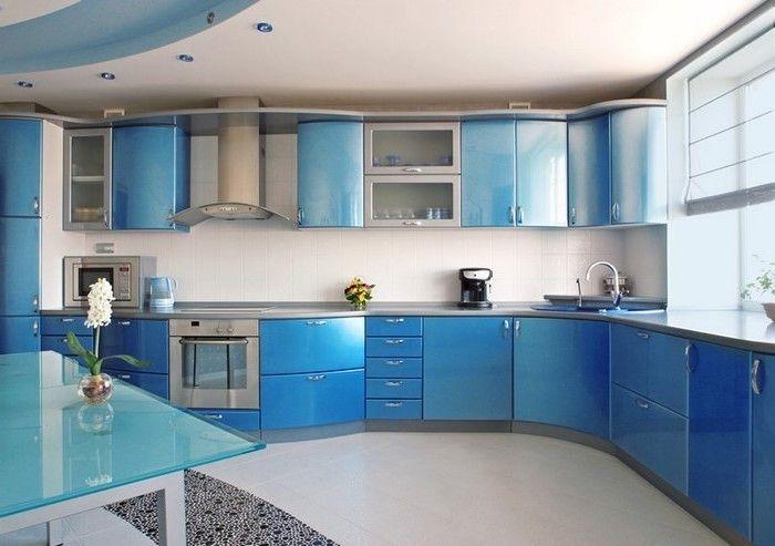 designer küchen blaue küche ausstatten blaue nuancen in der küche