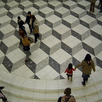 Three Dimensional Floor Tiles Illusion Tile Floor Flooring Cool Optical Illusions