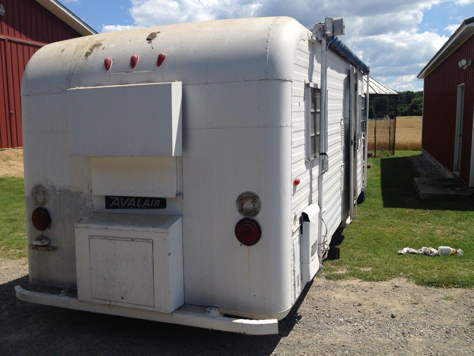 Rare 1963 Avalair Vintage Camper Travel Trailer Baroda Michigan